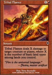 Tribal Flames Magic Card