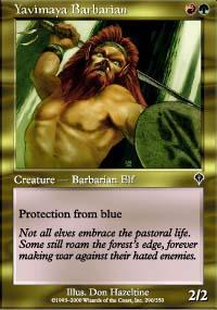 Yavimaya Barbarian Magic Card