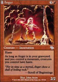 Anger Magic Card
