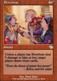 Browbeat Magic Card