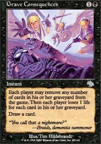 Grave Consequences Magic Card