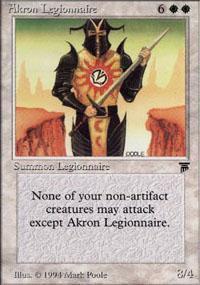 Akron Legionnaire Magic Card