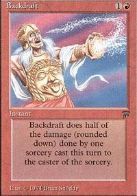 Backdraft Magic Card