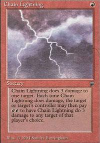 Chain Lightning Magic Card