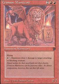 Crimson Manticore Magic Card