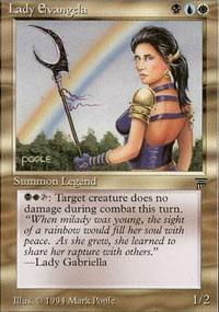 Lady Evangela Magic Card