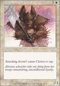 Akroma's Devoted Magic Card