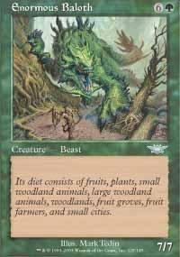 Enormous Baloth Magic Card