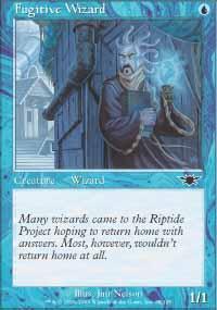 Fugitive Wizard Magic Card