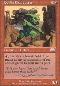 Goblin Clearcutter Magic Card