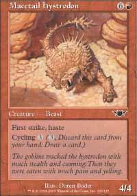 Macetail Hystrodon Magic Card