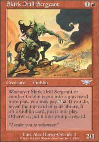 Skirk Drill Sergeant Magic Card
