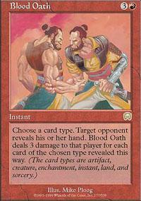 Blood Oath Magic Card