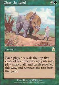 Clear the Land Magic Card