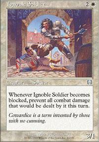 Ignoble Soldier Magic Card