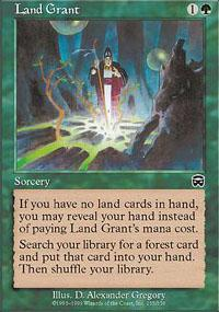 Land Grant Magic Card