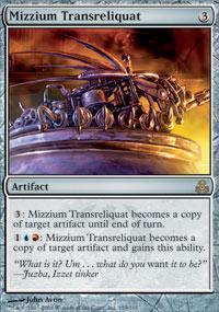 Mizzium Transreliquat Magic Card