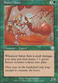 Saber Ants Magic Card