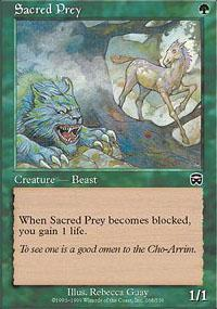 Sacred Prey Magic Card