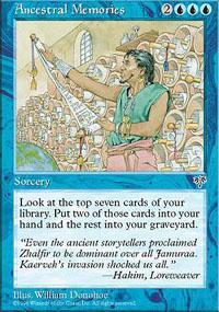 Ancestral Memories Magic Card