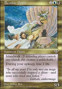 Benthic Djinn Magic Card