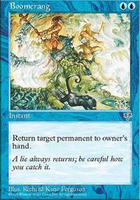 Boomerang Magic Card