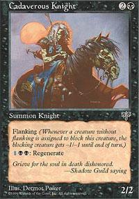 Cadaverous Knight Magic Card