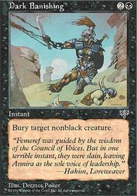 Dark Banishing Magic Card