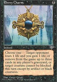 Ebony Charm Magic Card