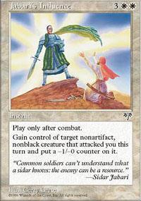 Jabari's Influence Magic Card