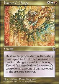 Kaervek's Purge Magic Card