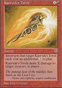 Kaervek's Torch Magic Card