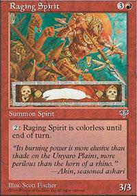Raging Spirit Magic Card