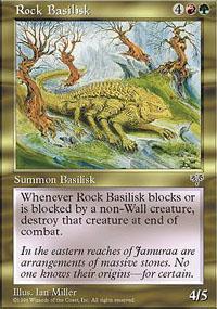 Rock Basilisk Magic Card