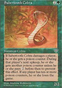 Sabertooth Cobra Magic Card