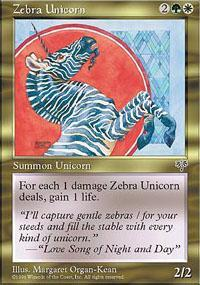 Zebra Unicorn Magic Card