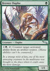Brown Ouphe Magic Card