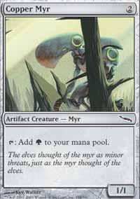 Copper Myr Magic Card