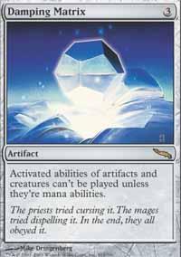 Damping Matrix Magic Card