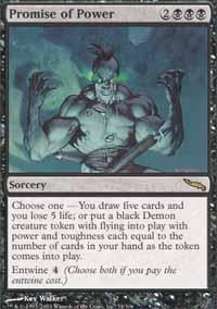 Promise of Power Magic Card