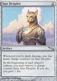 Sun Droplet Magic Card