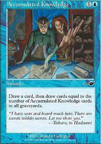 Accumulated Knowledge Magic Card