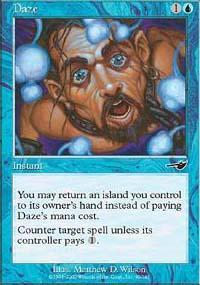 Daze Magic Card