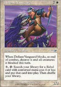 Defiant Vanguard Magic Card
