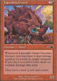 Laccolith Grunt Magic Card