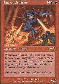 Laccolith Titan Magic Card