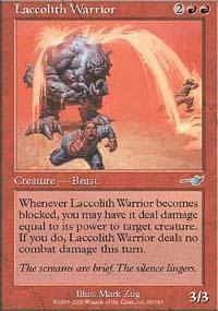 Laccolith Warrior Magic Card