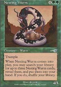 Nesting Wurm Magic Card