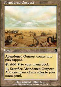 Abandoned Outpost Magic Card