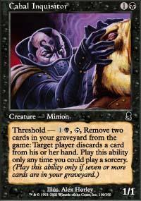 Cabal Inquisitor Magic Card